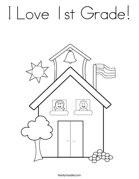 1st grade coloring pages # 4