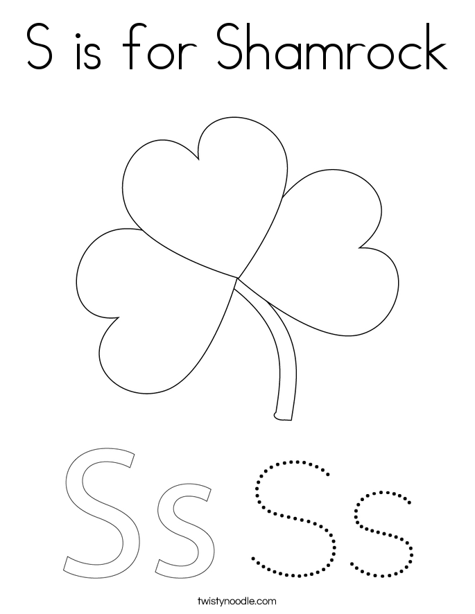 shamrock coloring page twisty noodle