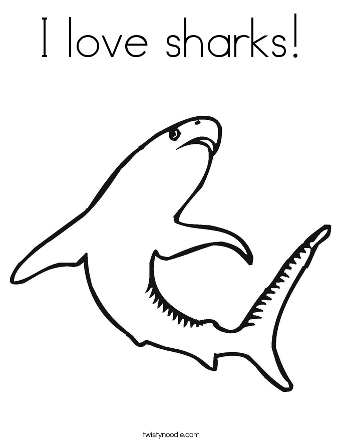 love sharks coloring page twisty noodle