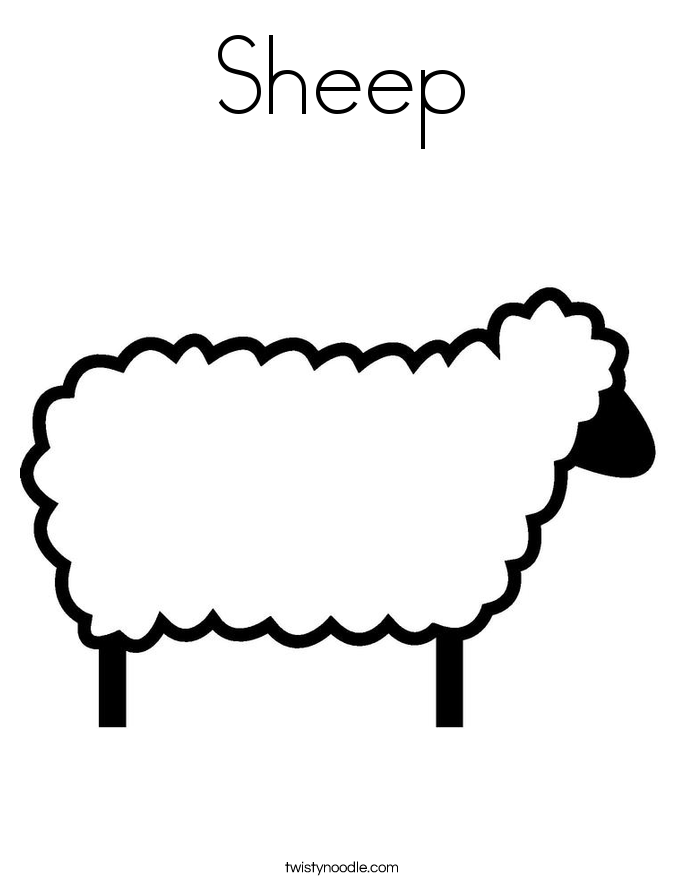 sheep coloring pages twisty noodle