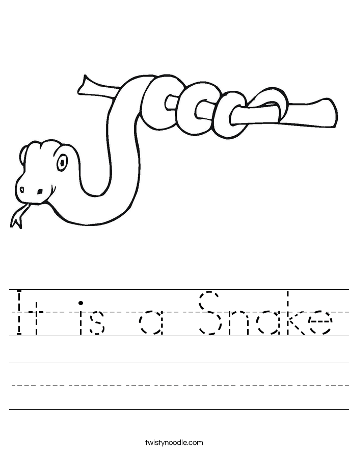 it is a snake worksheet twisty noodle