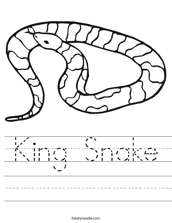 king snake worksheet twisty noodle