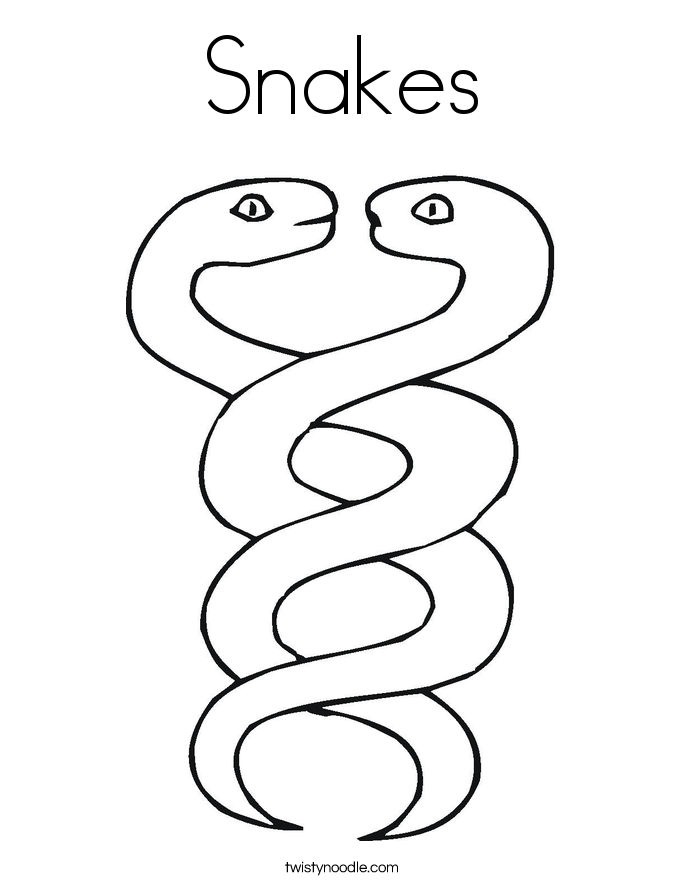 snake coloring page twisty noodle