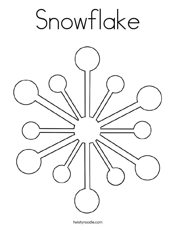 snowflake coloring page twisty noodle