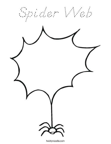 spider web coloring page d nealian twisty noodle