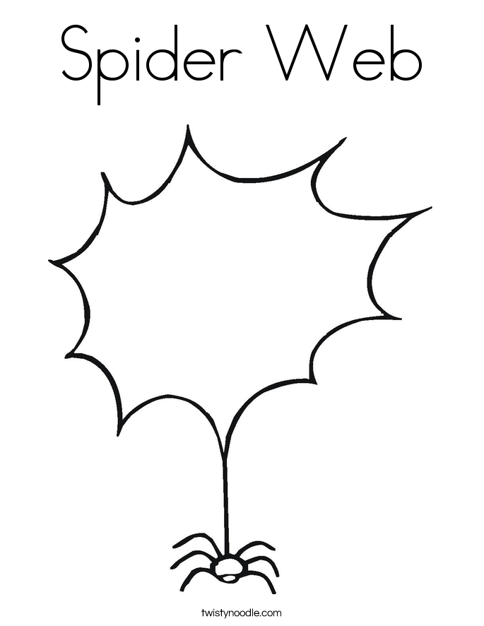 spider web coloring page twisty noodle
