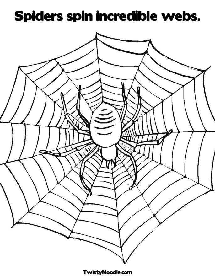 giant spider colouring pages