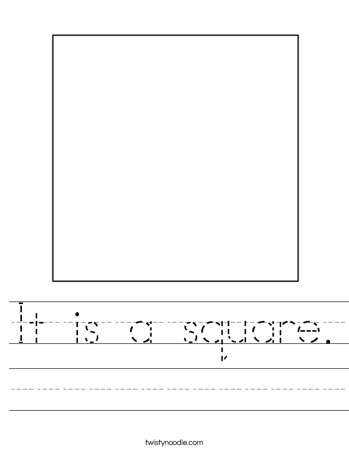 it is a square worksheet twisty noodle