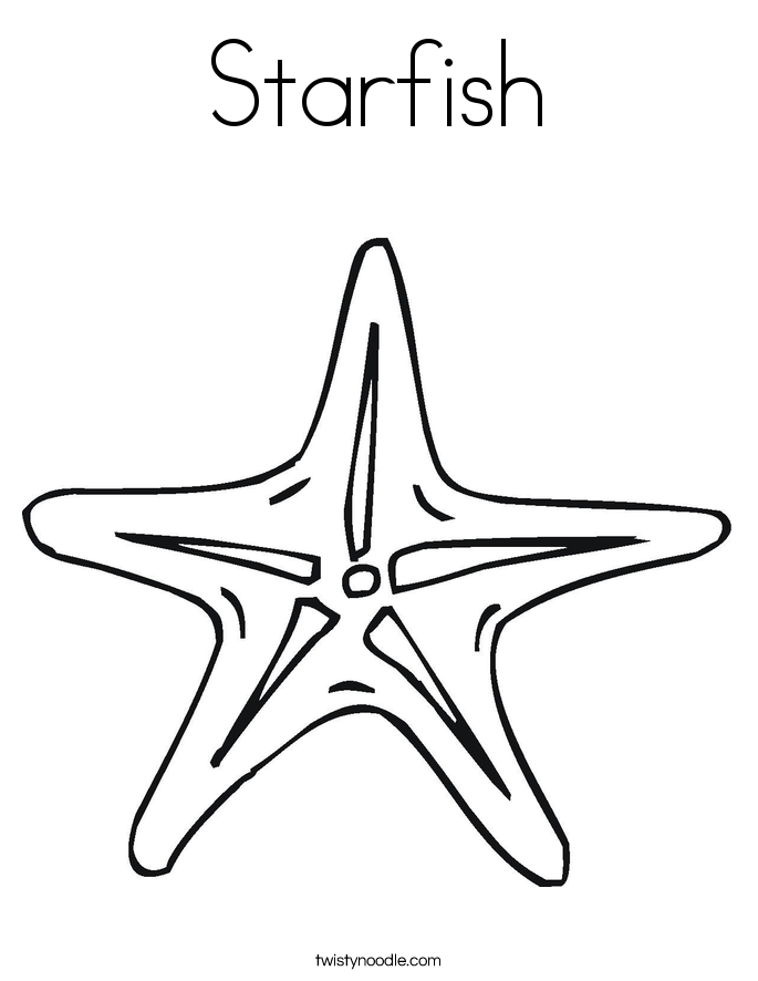 starfish coloring page twisty noodle