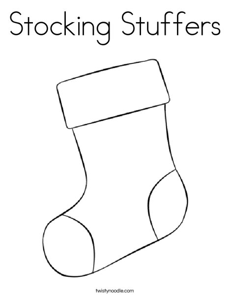 stocking stuffers coloring page twisty noodle