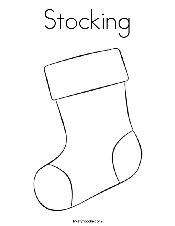 my stocking coloring page twisty noodle