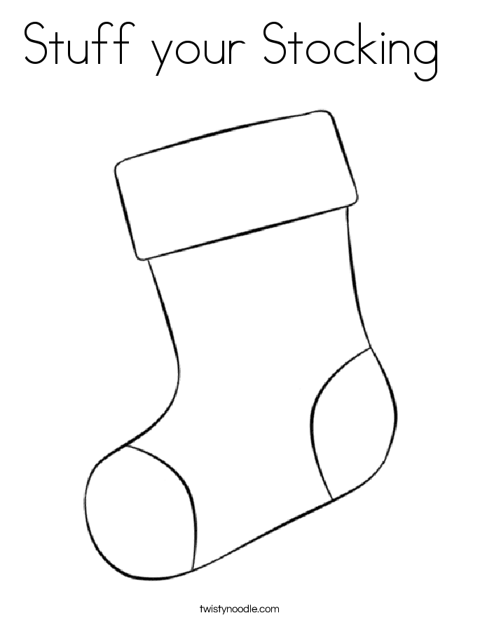 stuff your stocking coloring page twisty noodle
