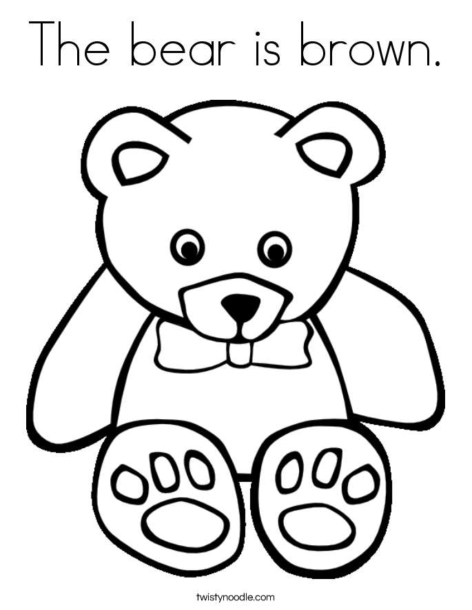 coloring page brown bear coloring pages now