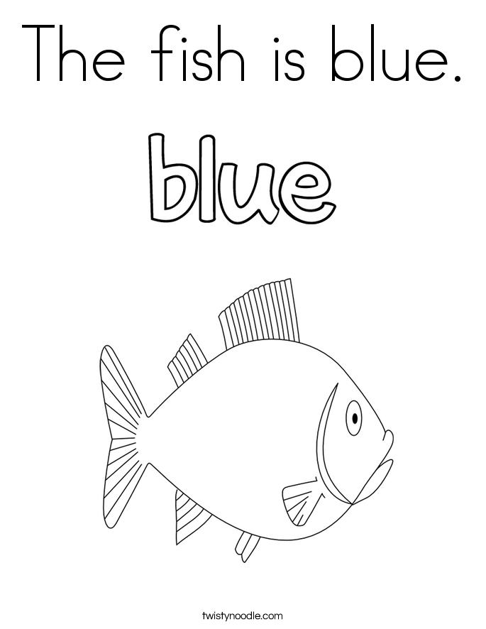 blue coloring pages twisty noodle