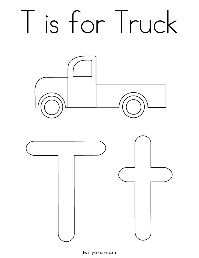 truck coloring pages twisty noodle
