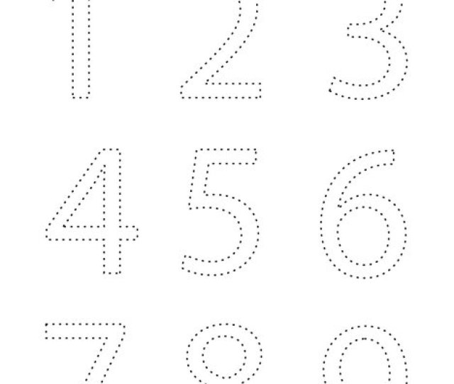 Trace And Color The Numbers Coloring Page Twisty Noodle