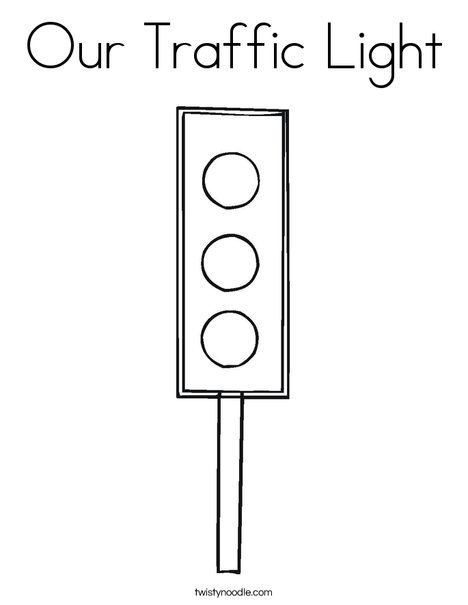 stop light coloring page # 10