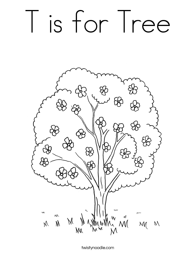 tree coloring pages twisty noodle