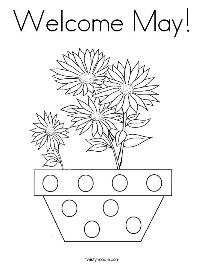 May Coloring Page | Omaľovánky | 886x685