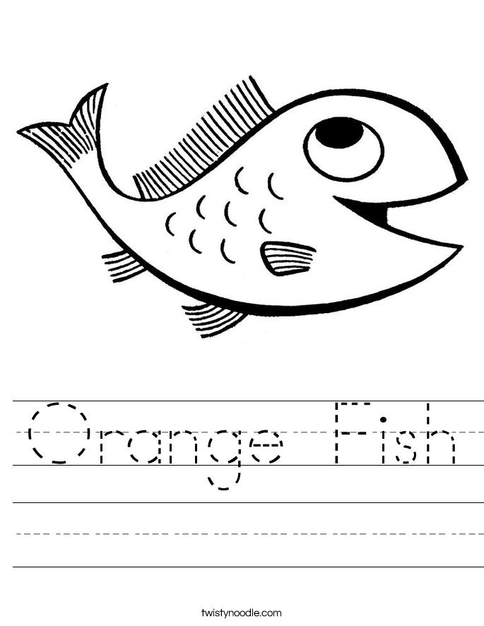 orange fish worksheet twisty noodle