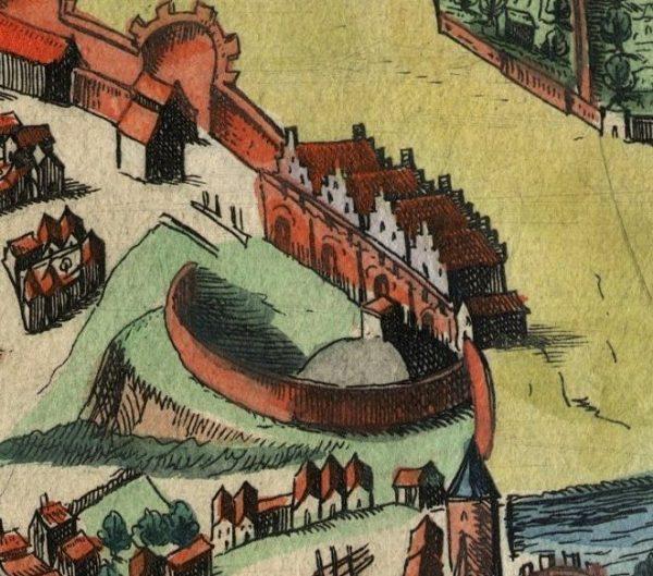 Zamek królewski w Poznaniu na najstarszym widoku miasta, ok 1617 r.