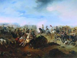 Atak rosyjskiej kawalerii w czasie bitwy pod Grochowem