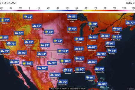 The Weather Channel Maps   weather com Ten Day US Forecast Maps