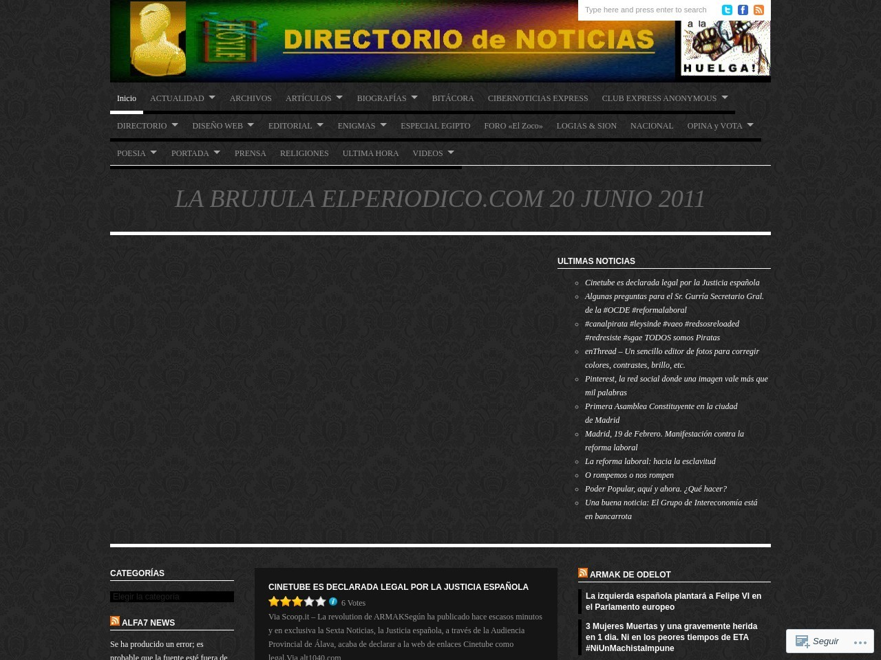 DIRECTORIO de NOTICIAS