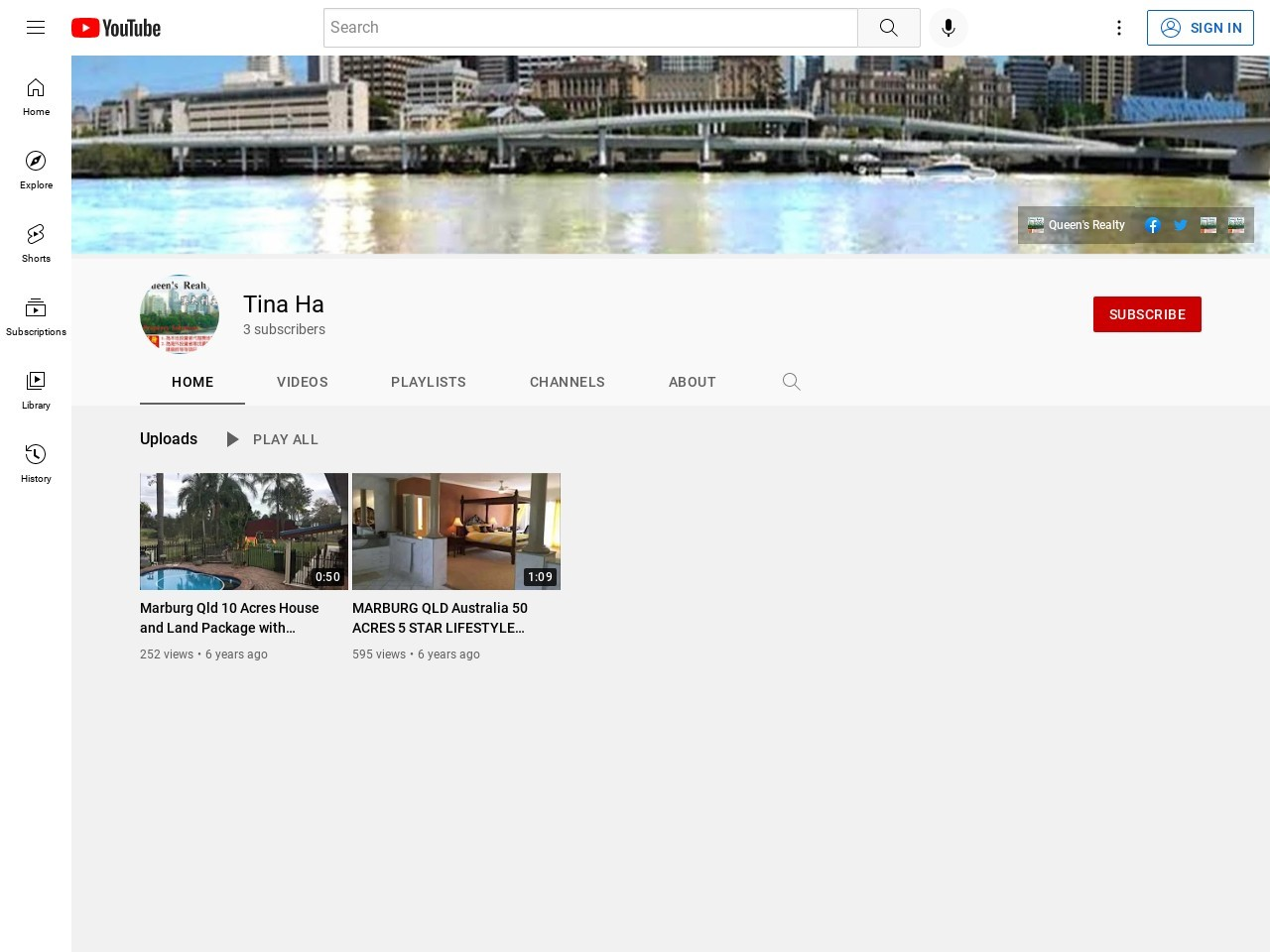 Queen's Realty on YouTube