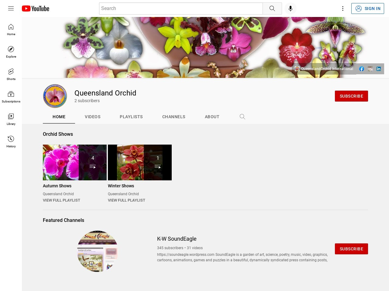 Queensland Orchid International on YouTube