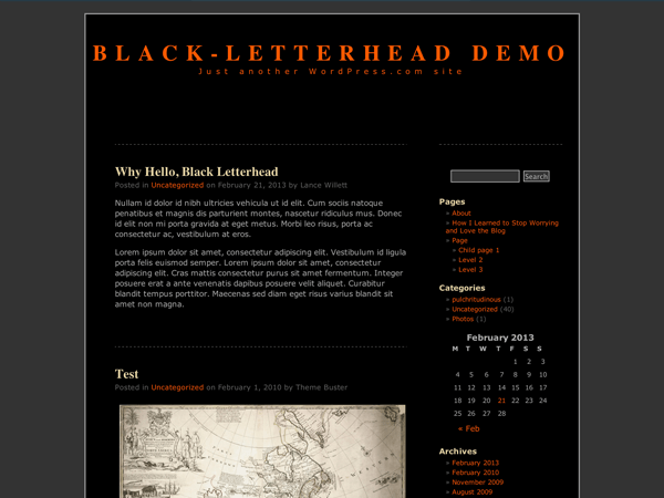 Theme Tuesday: Black Letterhead — The WordPress.com Blog