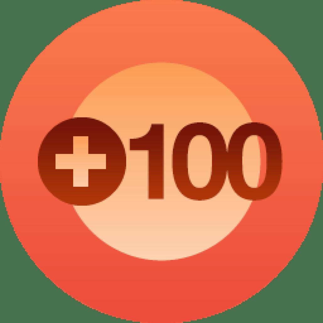 100 Volgers!