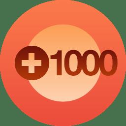 1,000 Follows!