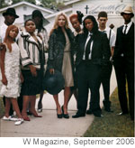 [Female student, right center, with Kate Moss]
