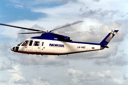 A Sikorsky S-76C helicopter, above; Shell is grounding its fleet.
