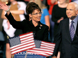 with John Mc bush when she was chosen as his running mate.