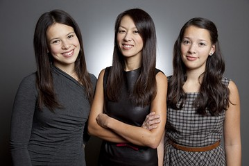 Amy Chua with her daughters, Sophia and Louisa.