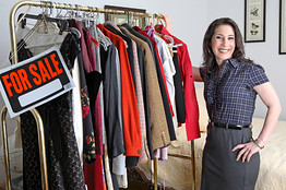 To sell her old designer clothes this finanshionista in hiding made her Manhattan studio apartment feel like a plush boutique