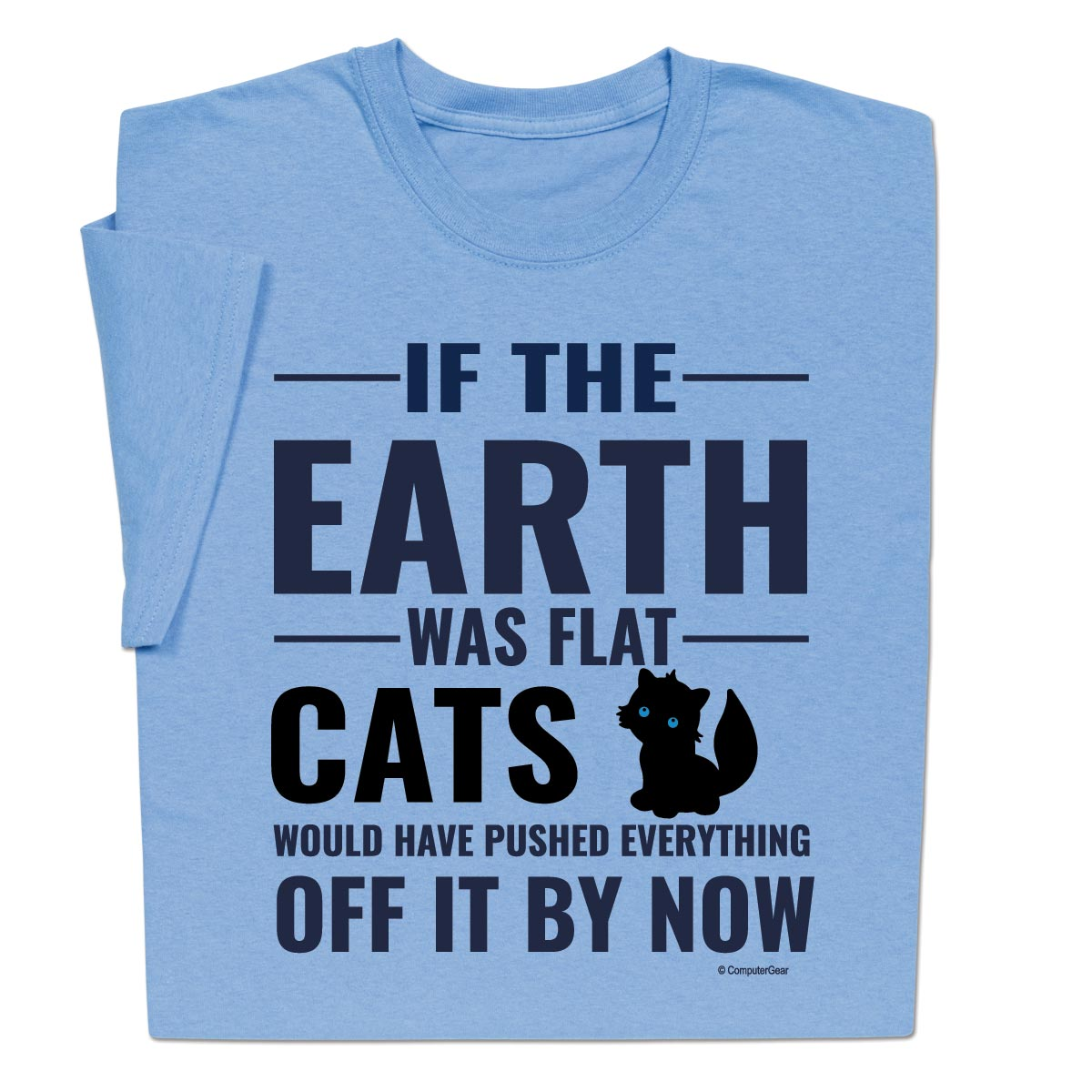 Flat Earth Cats Funny T-Shirt