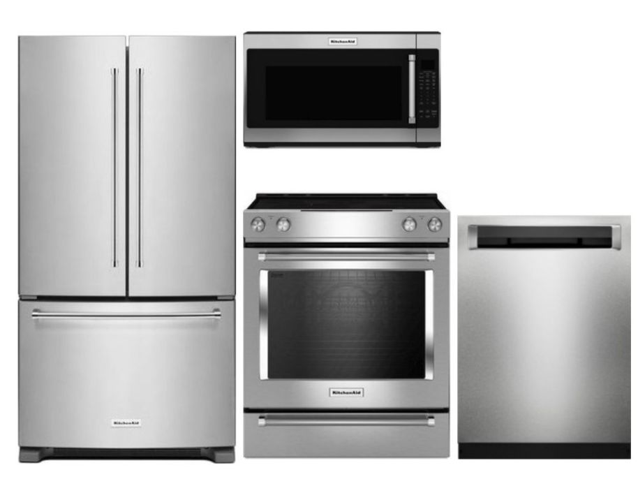 Package K1 - KitchenAid Appliance Package - 4 Piece ...