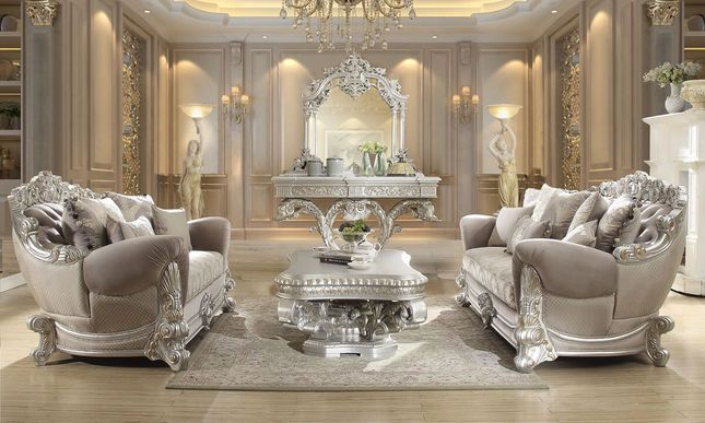 Luxurious Traditional Style Formal Living Room Set Hd 372