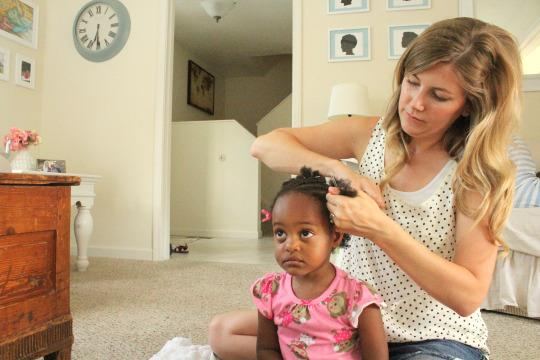 'You Are So Beautiful!': How White Mom Bonds With Black Daughter Over Her Hair
