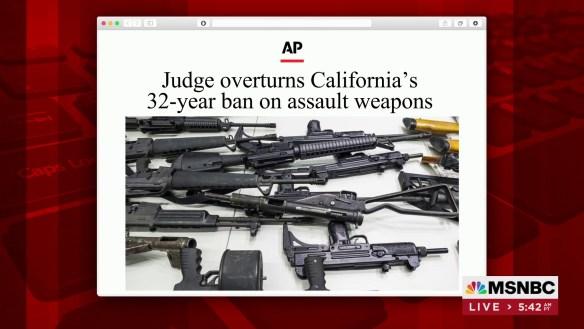 CALIFORNIA ASSAULT WEAPONS BAN