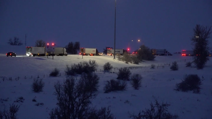 , Truck drivers stranded by brutal cold and snow in the Northwest, The Evepost National News