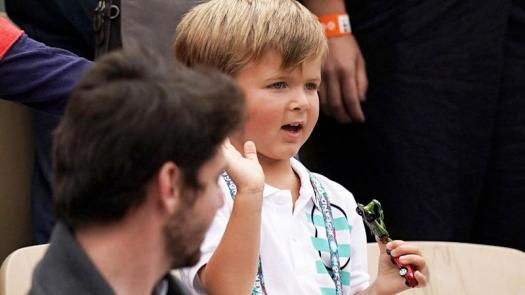 French Open 2019: Novak Djokovic's son steals the show