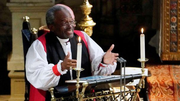 PHOTO: The Most Rev Bishop Michael Curry, primate of the Episcopal Church, gives an address during the wedding of Prince Harry and Meghan Markle in St George's Chapel at Windsor Castle in Windsor, May 19, 2018. (Owen Humphreys/Reuters)