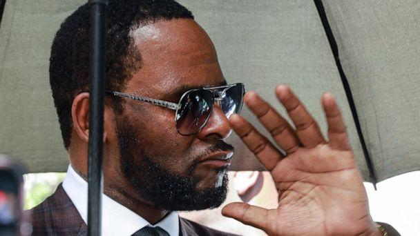 PHOTO: In this June 26, 2019, file photo, Musician R. Kelly departs from the Leighton Criminal Court building after a status hearing in his criminal sexual abuse trial in Chicago. (AP Photo/Amr Alfiky, File)