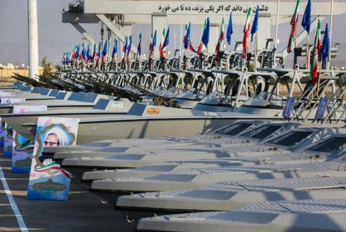 Iran's new combat vessels include speedboats, coastal patrol boats and submarines, according to state TV