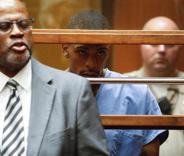 Eric Holder C Who Is Charged With The Shooting Death Of Rap Artist