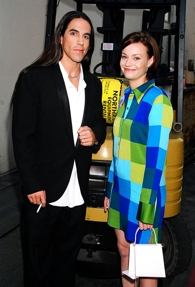 Anthony Kiedis and Samantha Mathis